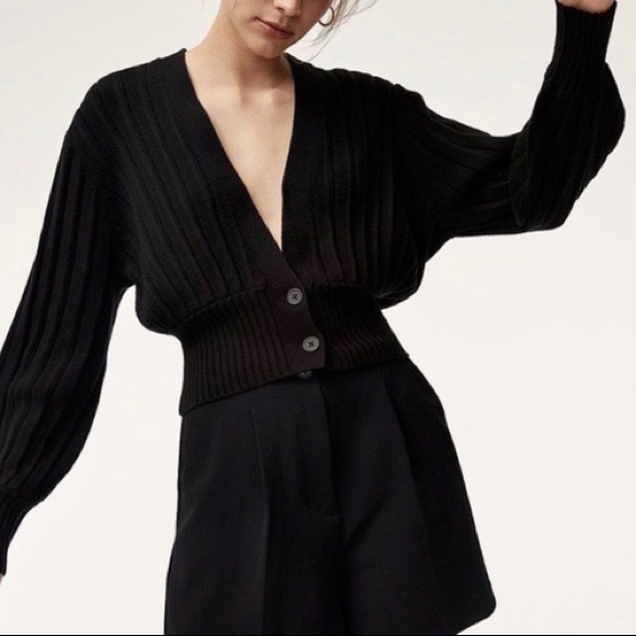 Aritzia Wilfred Button Front Cardigan Size L
